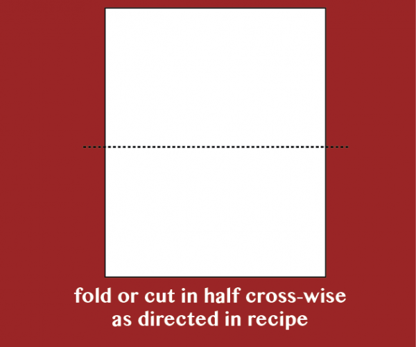 a photo showing what to do with phyllo when you cut or fold it crosswise