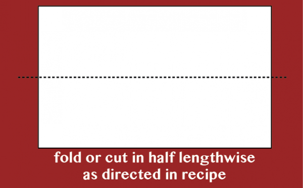 an image showing what to do with phyllo dough when we say fold or cut it lengthwise