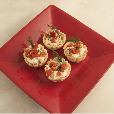 Clam Appetizer in phyllo cups