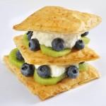 Blueberry Kiwi Fillo Layer Cakes