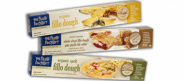 Three boxes of Fillo Factory Organic fillo