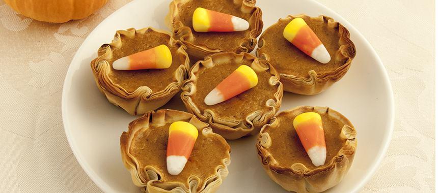 Pumpkin Filled Fillo Cups