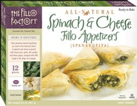 Fillo Factory Spinach & Cheese Appetizers in a box
