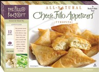 These are Fillo Factory Cheese appetizers in a box