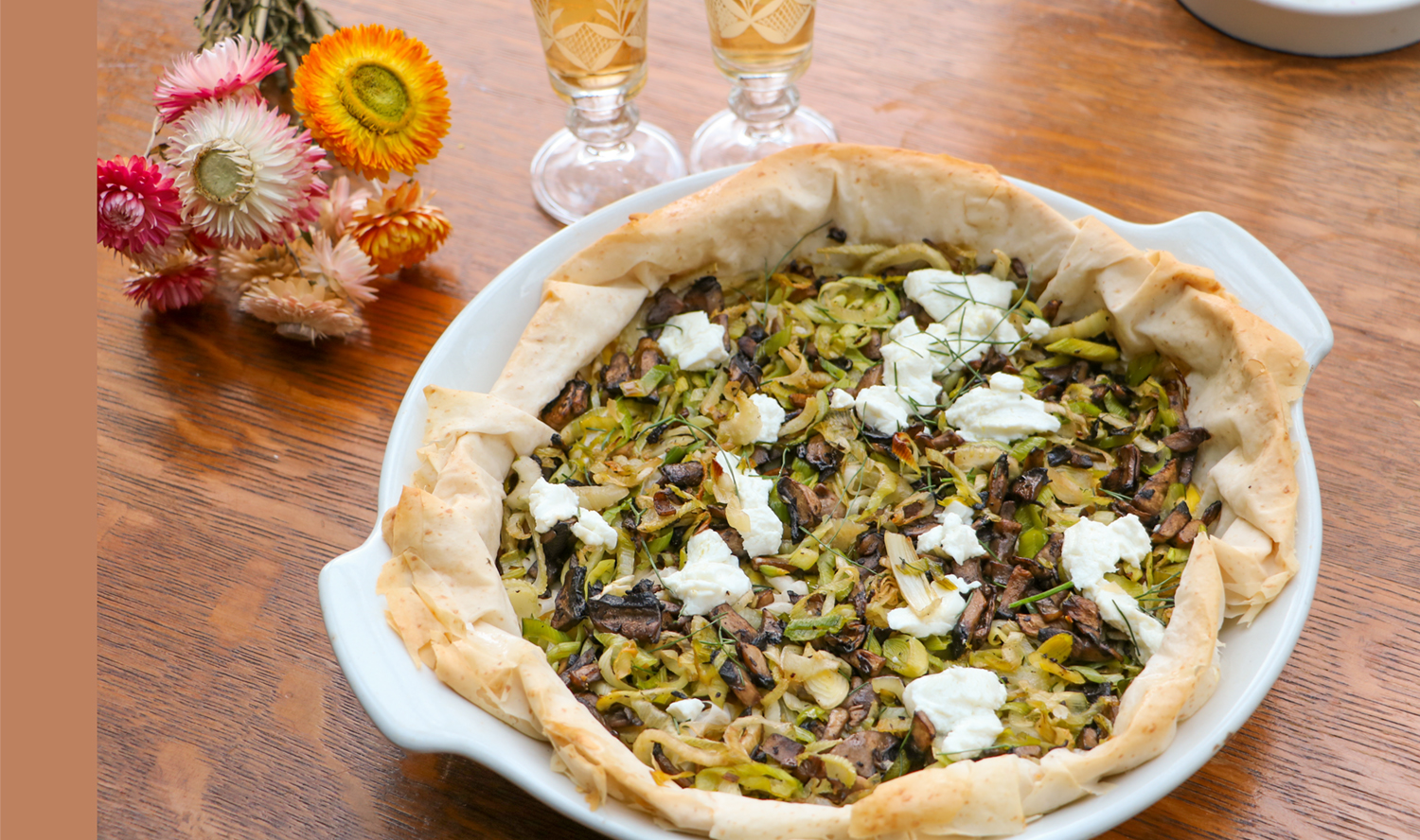 Mushroom, Leek and Fennel (or Onion) Tart – Fillo Talk