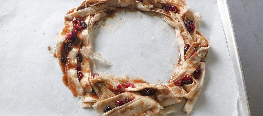 Edible Fillo Phyllo Wreath Centerpiece
