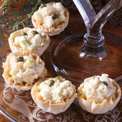 Shrimp & Egg Salad Tartlets