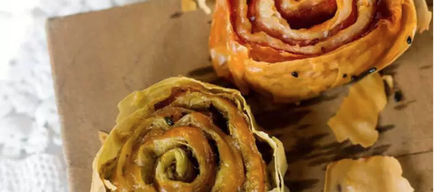 There's something new under the sun:  we call them Fillo Pinwheels