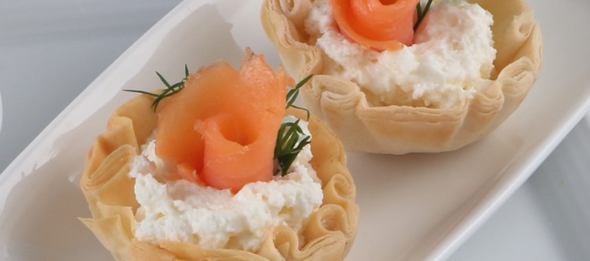 A Simple Brunch Dish with Cream Cheese and Lox