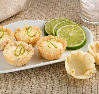Fillo Factory pastry cups filled with Key Lime Pie