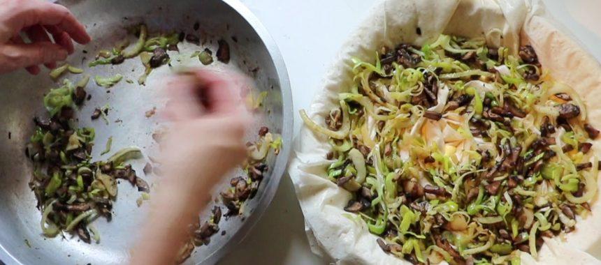 Mushroom, Leek and Fennel (or Onion) Tart