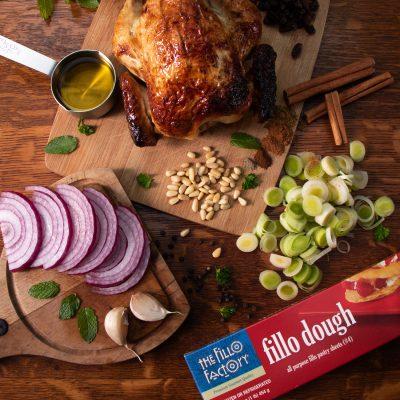 Chicken Fillo Pie by Diane Kochilas